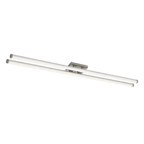 Cuisine Twin Led Ceiling Flush 117CM Brushed Chrome (Class 2 Double Insulated) BXCUI4846-17